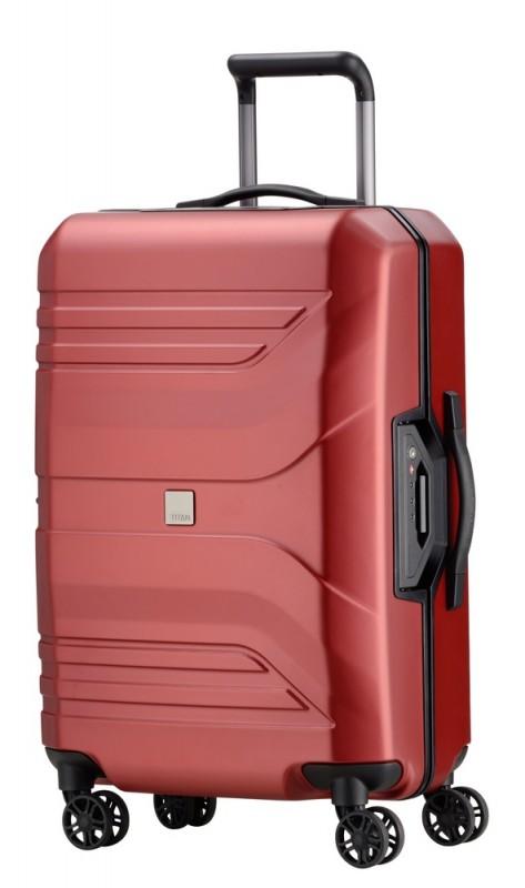 Titan PRIOR Exkluzivní cestovní kufr 69cm (Sunset Red)