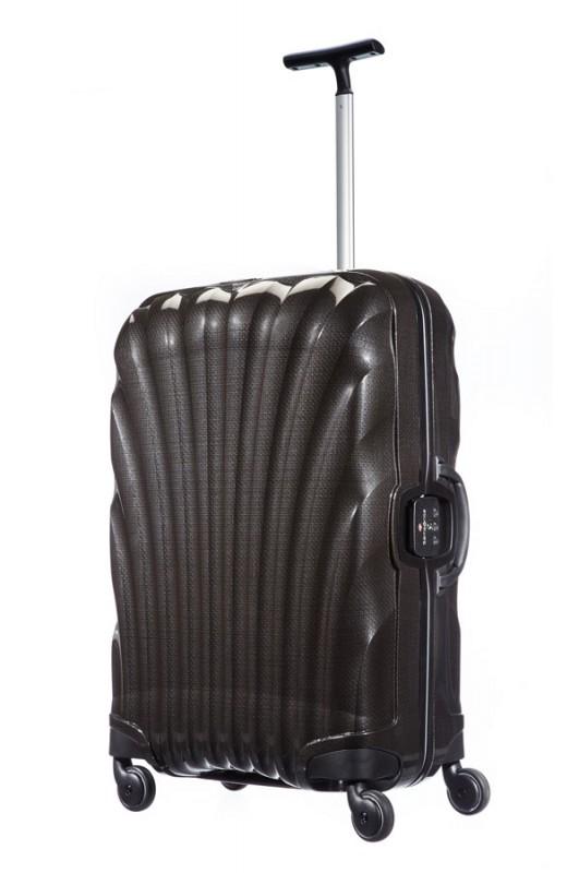 Samsonite LITE-LOCKEDstředně velký nerozbitný kufr 69 cm (Black)