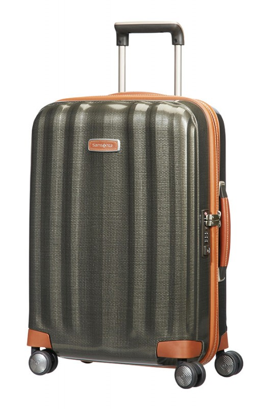 Samsonite LITE-CUBE DLX Spinner 55 cm (Dark Olive/ Brown)