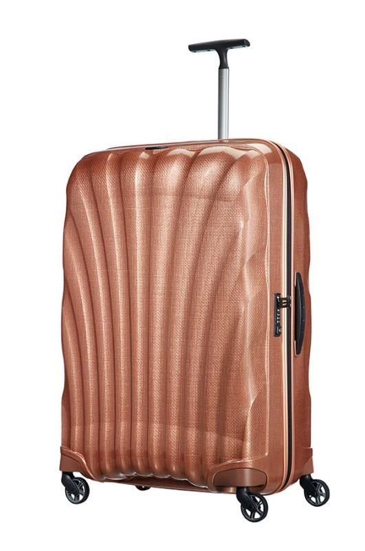 Samsonite COSMOLITE Vysoce odolný plastový kufr 81cm (Cooper blush)
