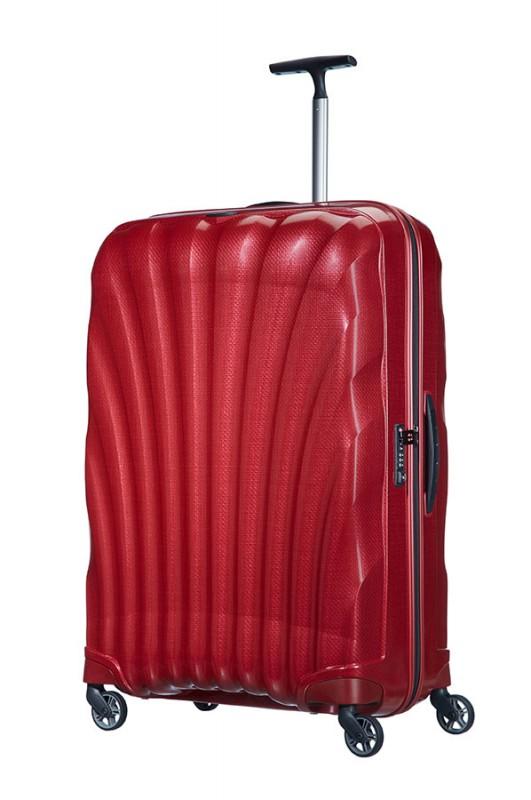 Samsonite COSMOLITE Vysoce odolný plastový kufr 81cm (Red)