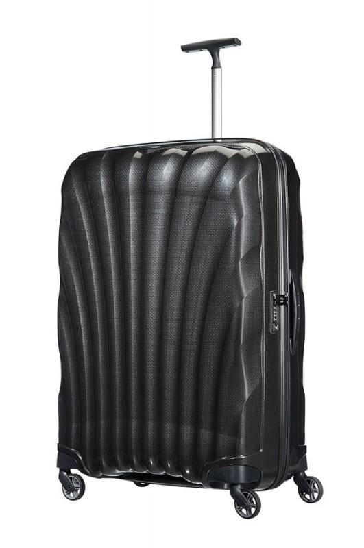 Samsonite COSMOLITE Vysoce odolný plastový kufr 81cm (Black)