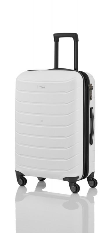Titan LIMIT Velmi odolný rozšířitelný skořepinový kufr 68cm (White)