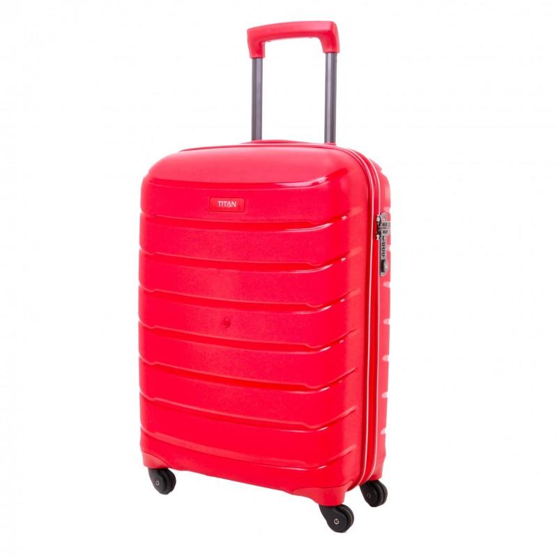 Titan LIMIT Velmi odolný skořepinový palubní kufr 55cm (Red)