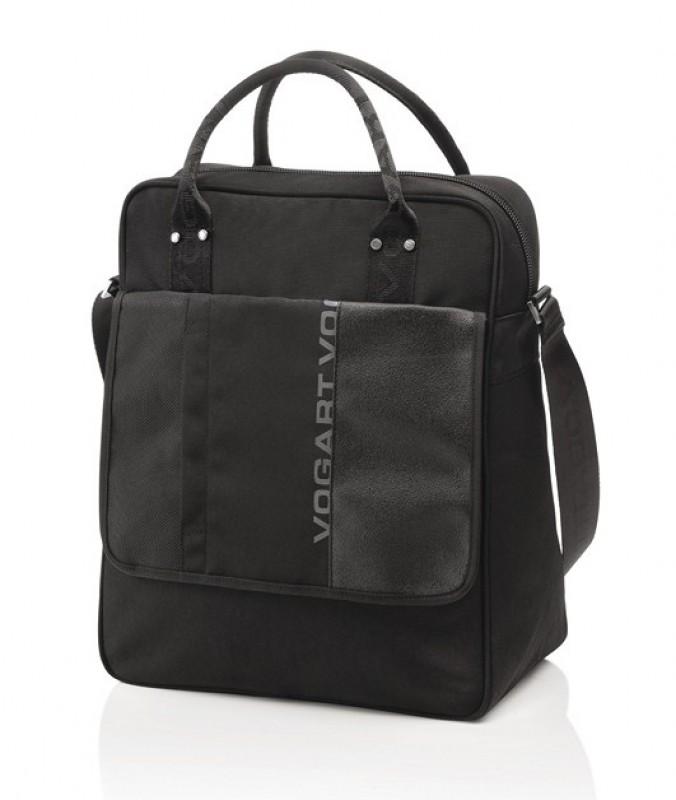 Vogart FINLAY Vertikální taška na dokumenty a notebook 12 (Black)