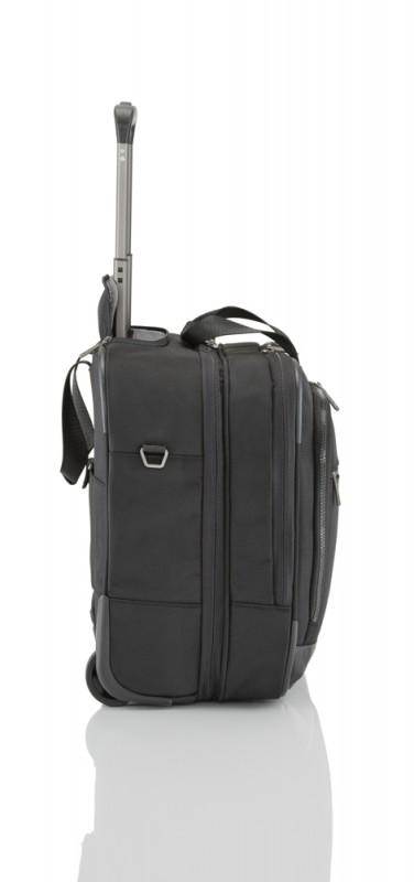 6cea56032e6ad ... (Black) Titan POWER PACK Textilní business kufr na kolečkách pro 17 ...