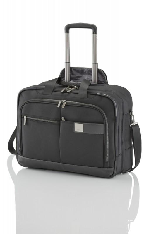 Titan POWER PACK Textilní business kufr na kolečkách pro 17 NTB (Black)