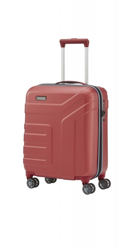 Travelite VECTOR Moderní kufr na čtyřech kolečkách 55 cm (Coral)