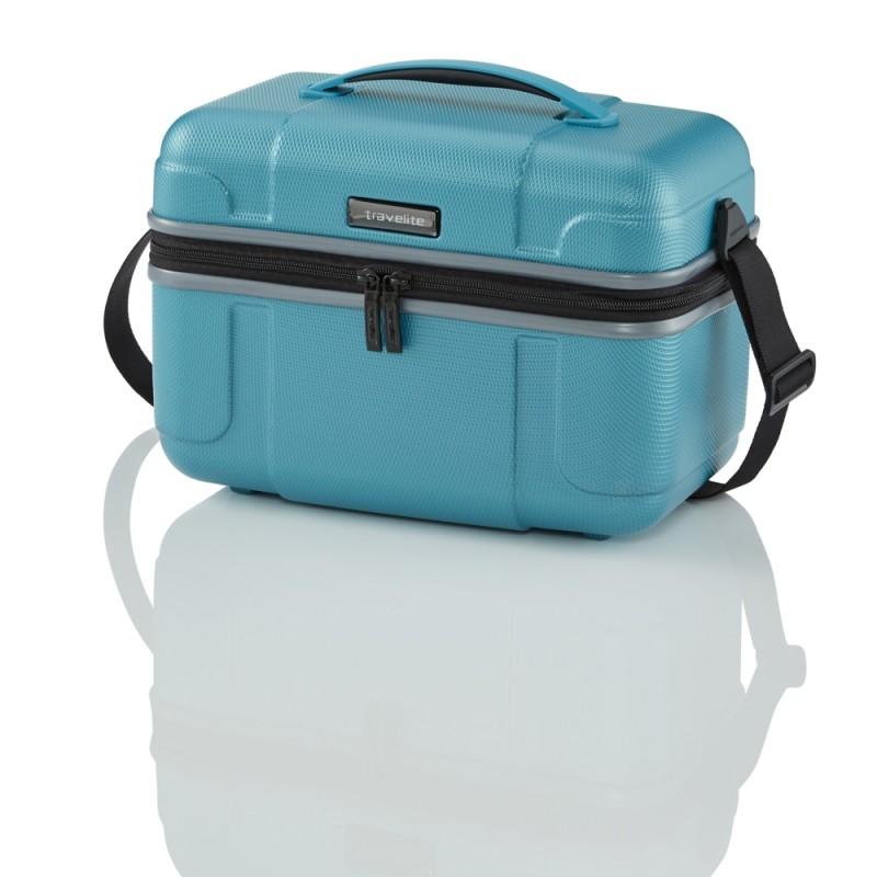 Travelite VECTOR Skořepinový kosmetický kufřík (Turquoise)