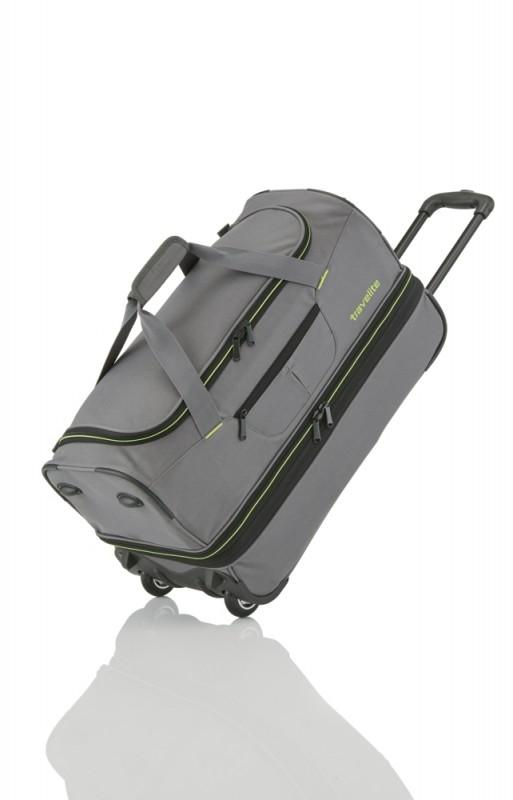 Travelite BASICS Cestovní taška 2 kolečka, 55 cm (Grey/green)