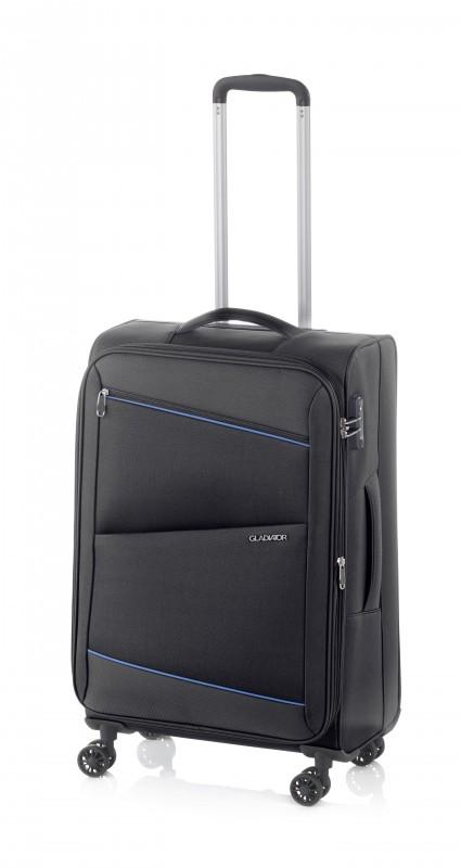 Gladiator BEL-AIR Rozšířitelný velký cestovní kufr 78cm (Black)
