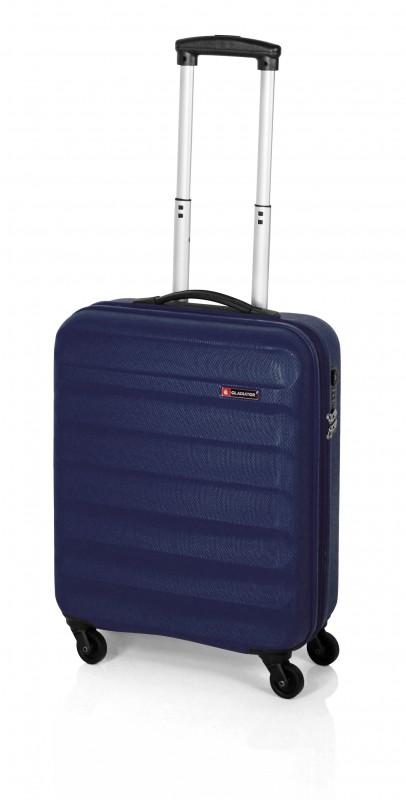 Gladiator GROW UP Rozšířitlný plastový kufr z ABS 54cm (Navy)