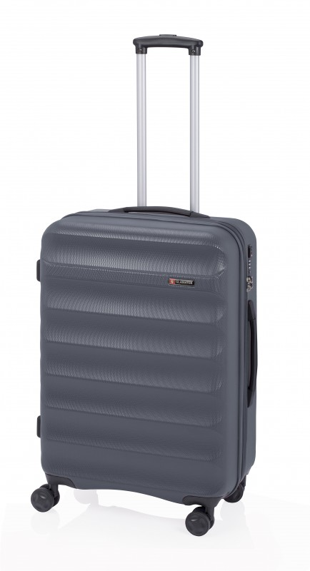 Gladiator GROW UP Rozšířitlný střední plastový kufr z ABS 67cm (Grey)