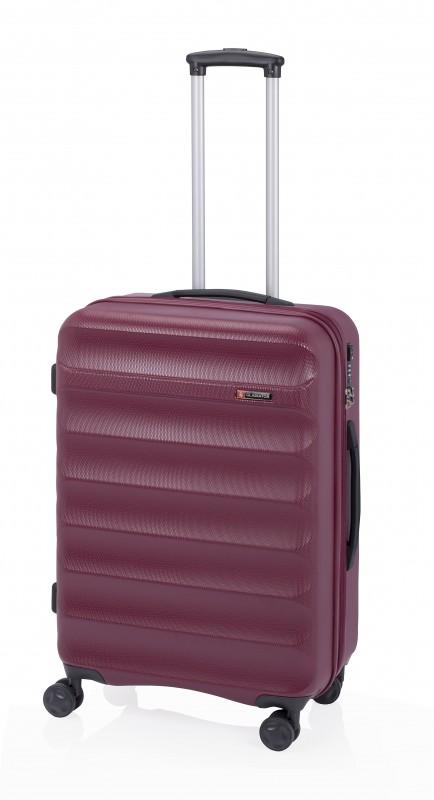 Gladiator GROW UP Rozšířitlný střední plastový kufr z ABS 67cm (Burgundy)