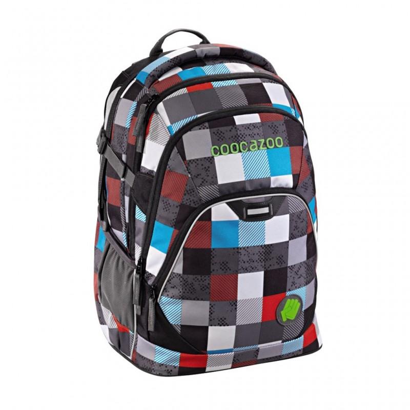 Coocazoo EVVERCLEVVER2 Školní batoh - Checkmate Blue Red
