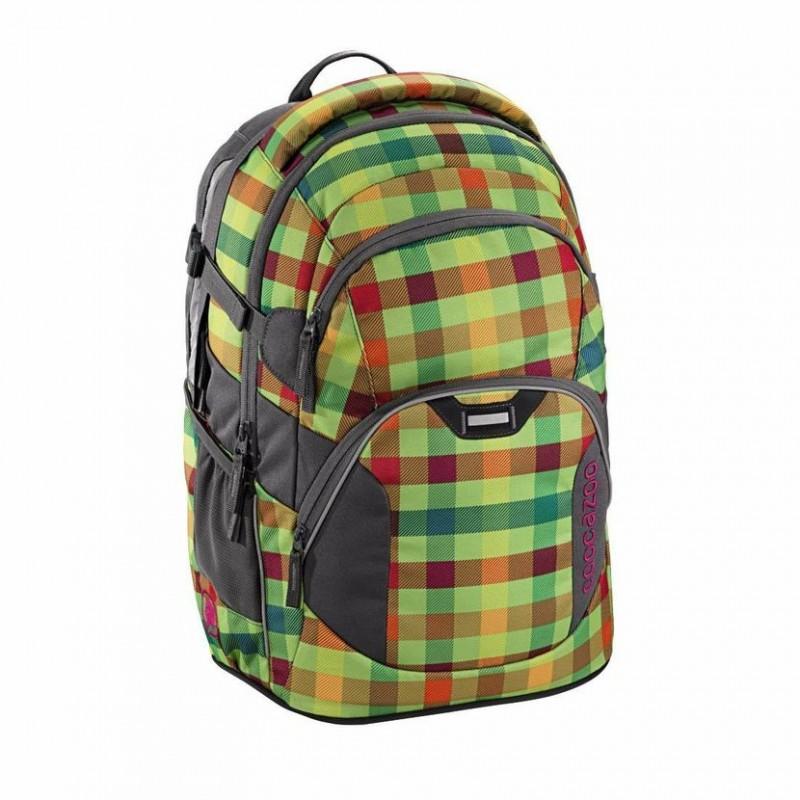 Coocazoo JOBJOBBER2 Školní batoh - Hip To Be Square Green
