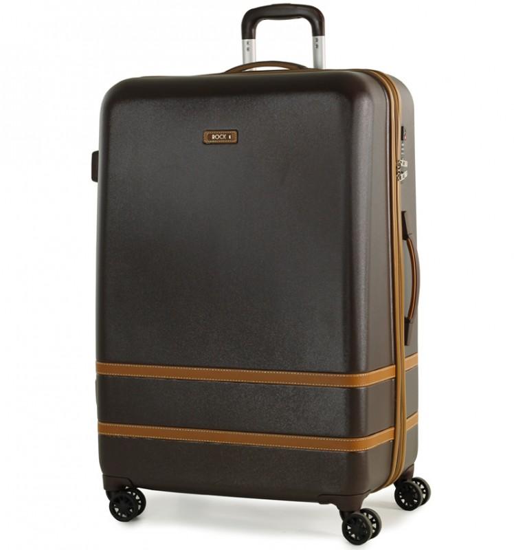 Rock VALENCE Stylový plastový kufr z ABS 78cm (Hnědý)