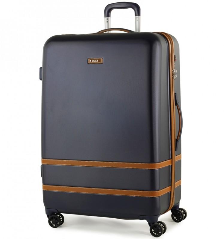 Rock VALENCE Stylový plastový kufr z ABS 78cm (Modrý)