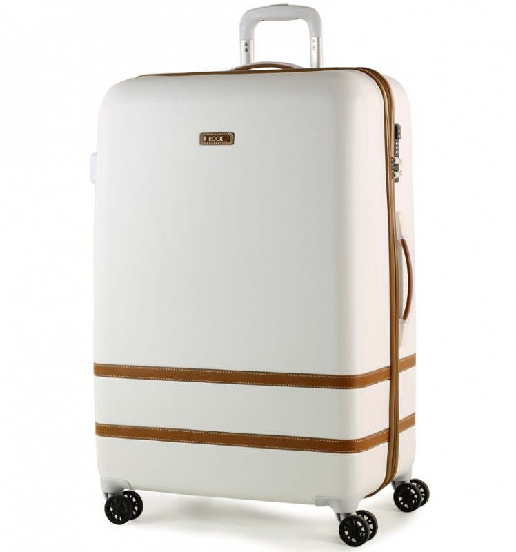 Rock VALENCE Stylový plastový kufr z ABS 78cm (Bílý)