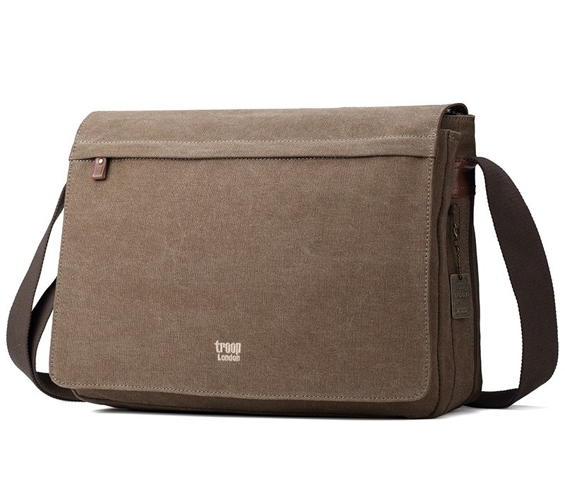 Troop London TRP0371 Brašna na notebook 17 - Brown