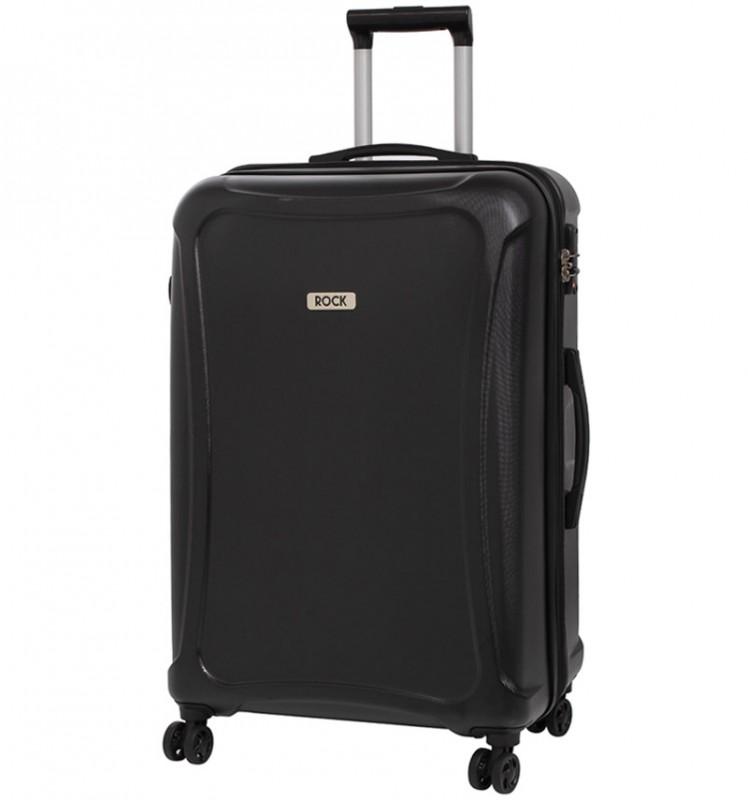 Rock TECTONIC Rozšířitelný cestovní kufr z extra odolného Duralitonu 72cm (Černý)