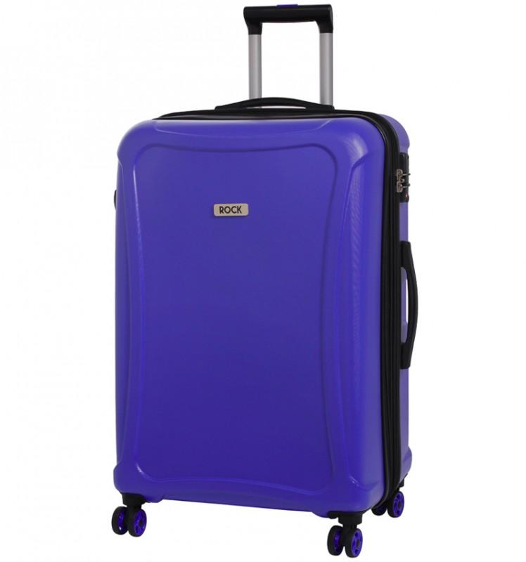 Rock TECTONIC Rozšířitelný cestovní kufr z extra odolného Duralitonu 72cm (Modrý)