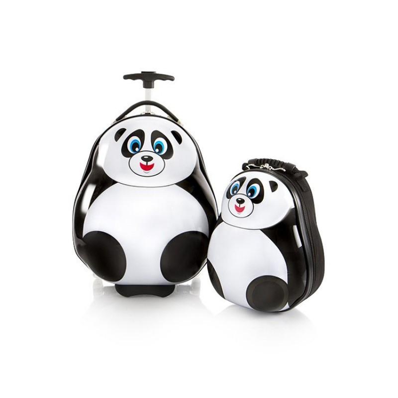 Heys TRAVEL TOTS dětská sada kufru a batohu, motiv Panda