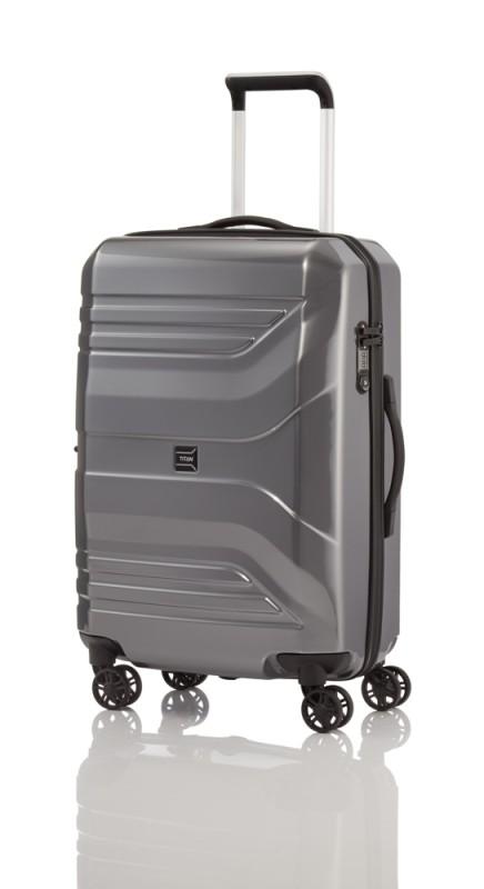 Titan PRIOR ZIP Exkluzivní cestovní kufr 69cm (Gunmetal flash)