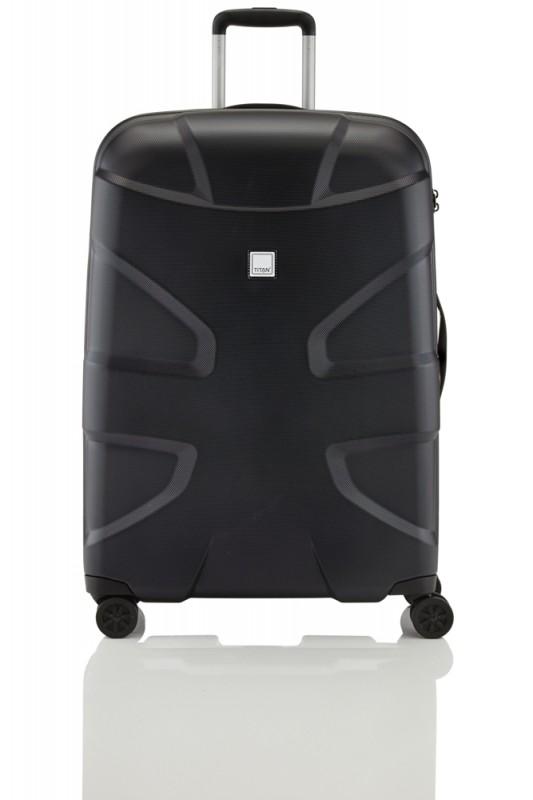Titan X2 SHARK SKIN Exkluzivní kufr s hrubým povrchem 76cm (Black)