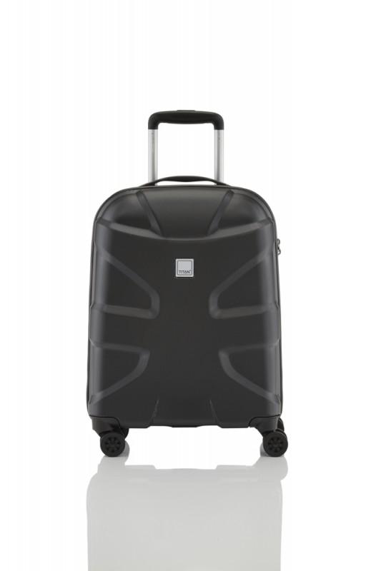 Titan X2 SHARK SKIN Palubní kufr 4 kolečka 55 cm, S (Black)