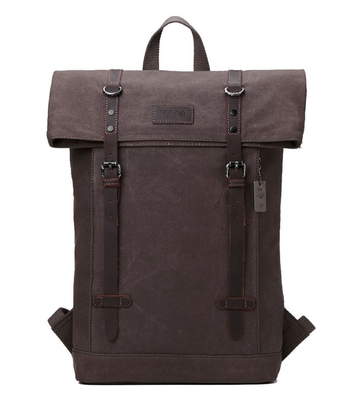 Troop London TRP0425 Batoh s klopou na notebook 15,6 - Brown