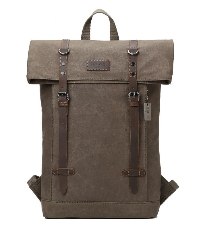 Troop London TRP0425 Batoh s klopou na notebook 15,6 - Olive