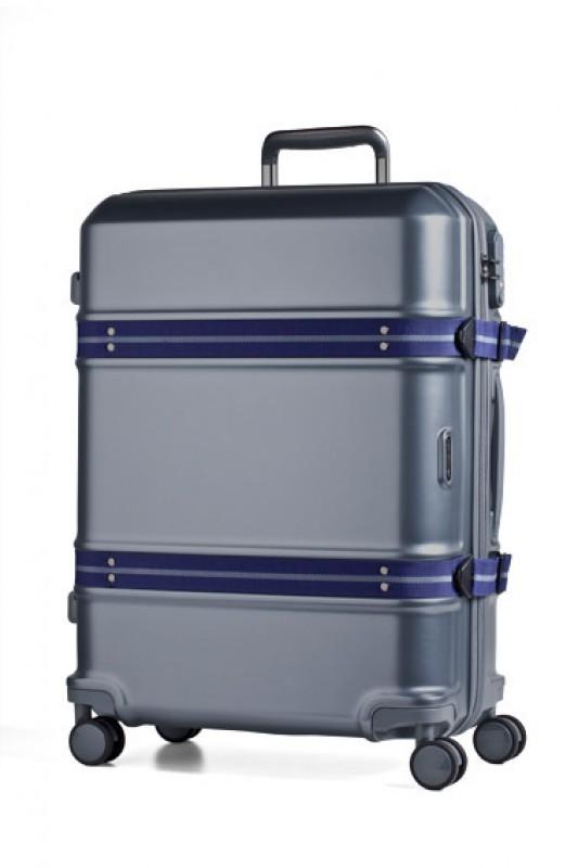 March TRUNK Elegantní cestovní kufr z Makrolonu 55cm (Blue/grey)