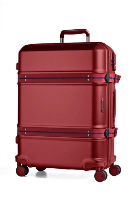 March TRUNK Elegantní cestovní kufr z Makrolonu 75cm (Red)