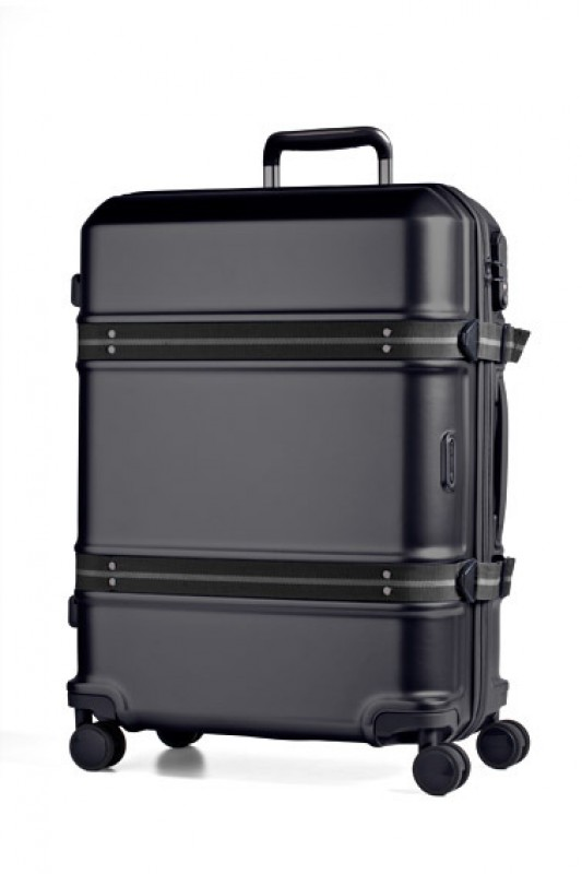 March TRUNK Elegantní cestovní kufr z Makrolonu 55cm (Black)