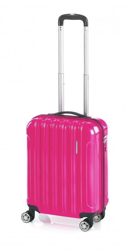 Gladiator NEON Lehký polykarbonový kufr s TSA 55cm (Fuchsia)