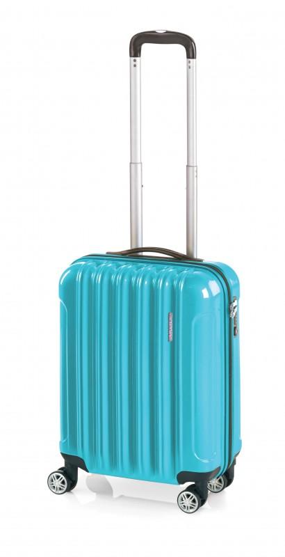 Gladiator NEON Lehký polykarbonový kufr s TSA 55cm (Blue)