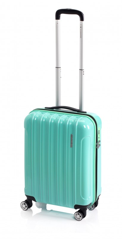Gladiator NEON Lehký polykarbonový kufr s TSA 55cm (Green Mint)