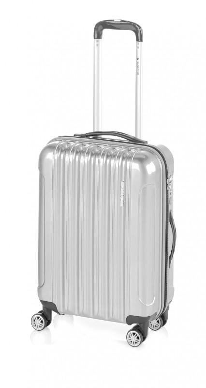 Gladiator NEON LUX Lehký polykarbonový střední kufr s TSA (Silver)