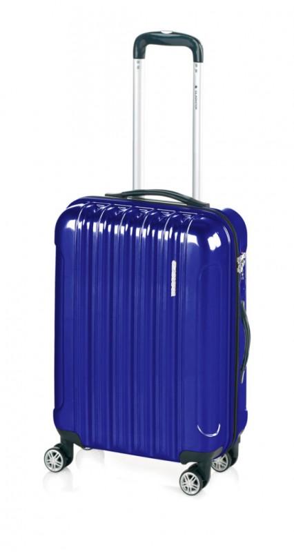 Gladiator NEON LUX Lehký polykarbonový velký kufr s TSA (Blue)