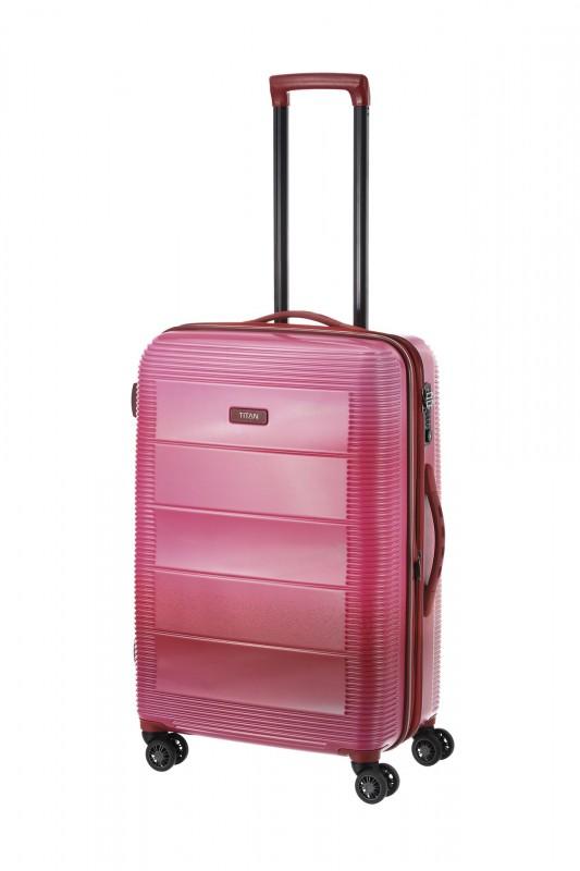 Titan SPRING Rozšířitelný polykarbonový kufr 4 kolečka 69cm (Pink)
