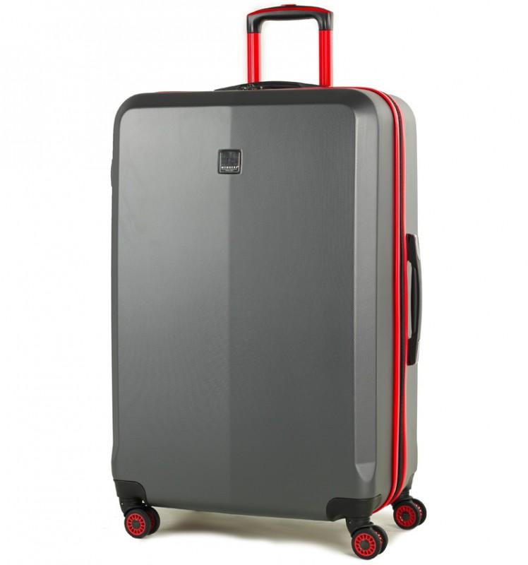 Member´s ONYX Velký cestovní kufr z ABS 77cm (Šedá/červená)