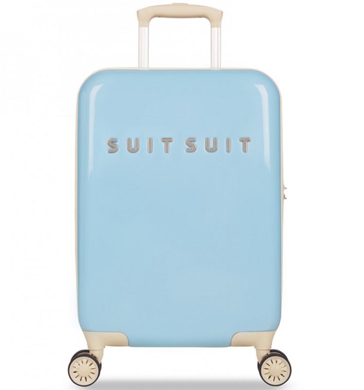 SuitSuit FABULOUS FIFTIES Jednoduchý kvaltitní kufr 55 cm (Baby Blue)