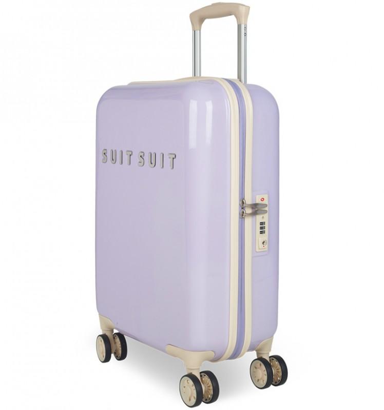 SuitSuit FABULOUS FIFTIES Jednoduchý kvaltitní kufr 55 cm (Paisley Purple)