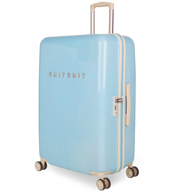 SuitSuit FABULOUS FIFTIES Jednoduchý kvaltitní kufr 67 cm (Baby Blue)
