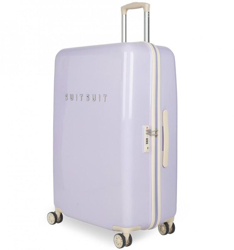 SuitSuit FABULOUS FIFTIES Jednoduchý kvaltitní kufr 67 cm (Paisley Purple)