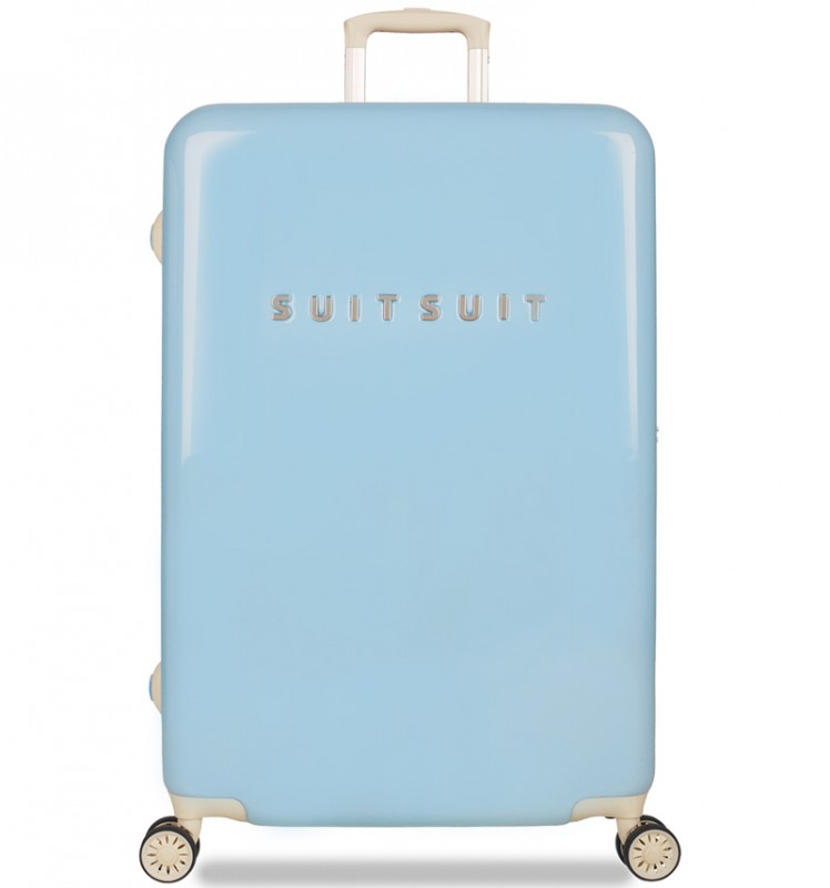 SuitSuit FABULOUS FIFTIES Jednoduchý kvaltitní kufr 77 cm (Baby Blue)