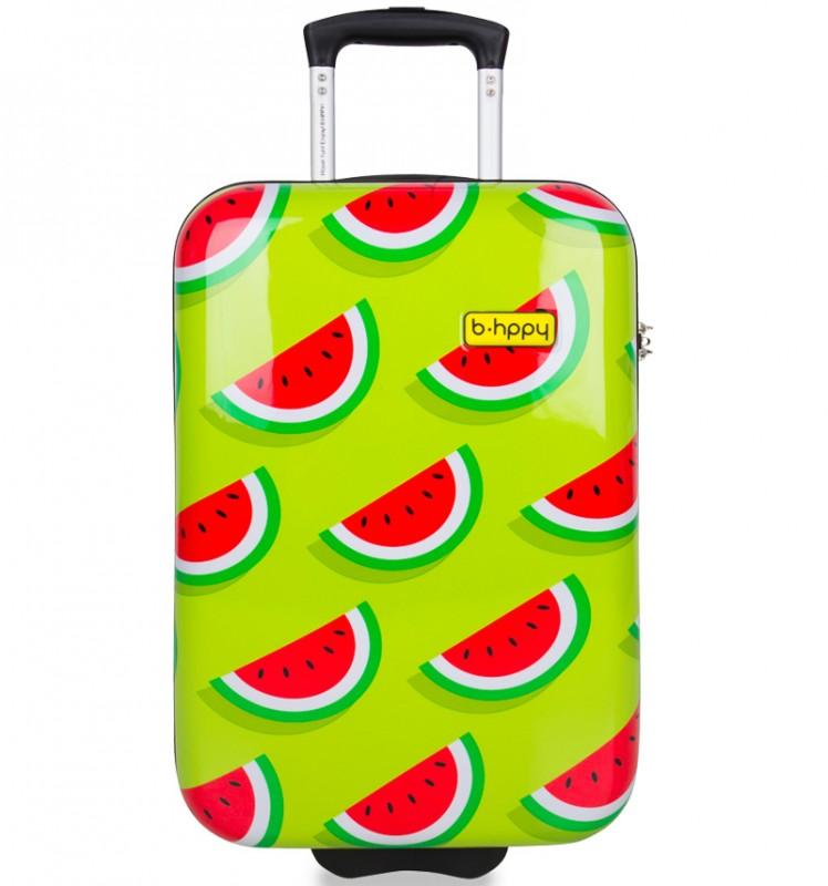 B.HPPY Designový kabinový kufr 52cm - Two In A Melon