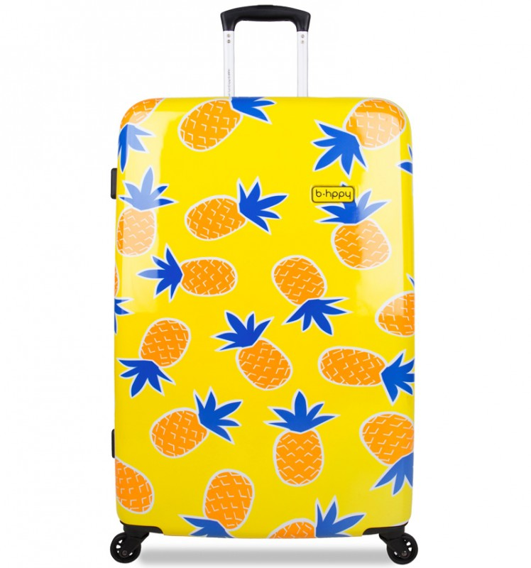 B.HPPY Designový kufr 67cm - Home Sweet Pineapple