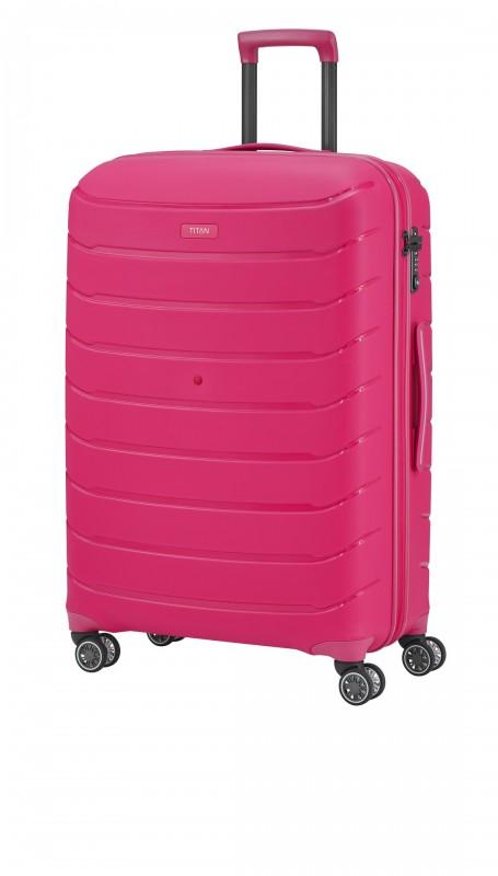 Titan LIMIT Velmi odolný rozšířitelný skořepinový kufr 77cm (Hot Pink)